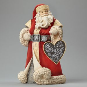 Santa with Heart Sign