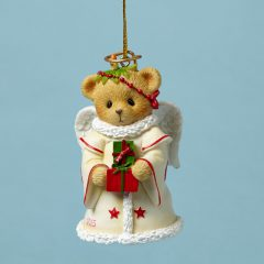 Angel Bear Bell Ornament Dated 2015