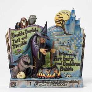Witch with Cauldron Spell Book