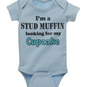 Boy's Diaper Shirt - I'm a stud muffin looking for my cupcake 30952