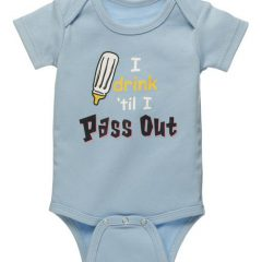 Diaper Shirt - I drink 'til I pass out 30957