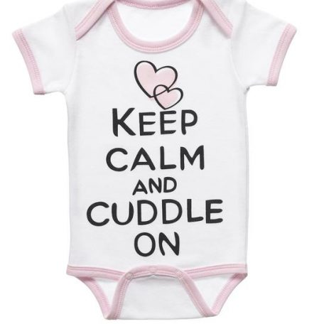 Diaper Shirt - Keep Calm and Cuddle on 32221