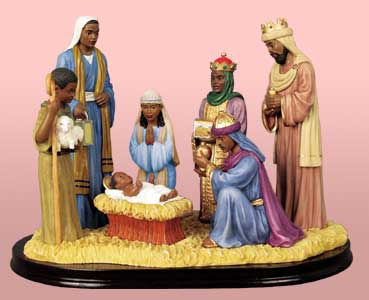 Ebony Nativity Set 19039