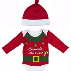 Elf-Santa's Little Helper Diaper Shirt & Cap 26626