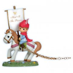 Precious Moments Disney Birthday Parade Prince Phillip On Horse With Banner Figurine