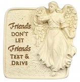Friends Don't Let Friends Text And Drive Angel Visor Clip 15751