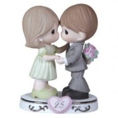 Precious Moments Porcelain 25th Anniversary Figurine 123020