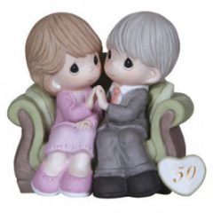 Precious Moments Porcelain 50th Anniversary Figurine 123021